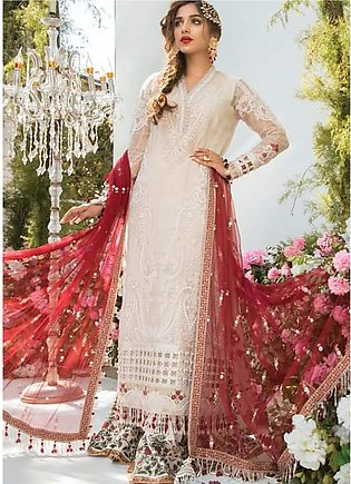 Mbroidered By Maria B Embroidered Lawn Suits Unstitched 3 Piece MB21MB 03 - Eid…