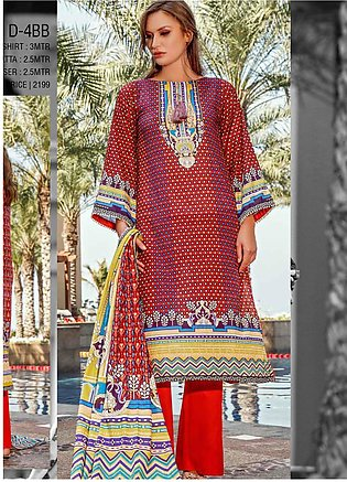 Ittehad Textiles Printed Lawn Unstitched 3 Piece Suit ITD20CS 43B - Summer Co...