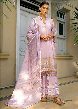 Gul Ahmed Embroidered Cotton Silk Unstitched 3 Piece Suit GAF19CS EA-99 - Fes...