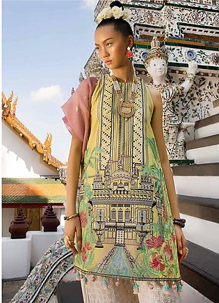 Crimson Embroidered Lawn Unstitched 3 Piece Suit CRM19L 6A - Spring / Summer ...