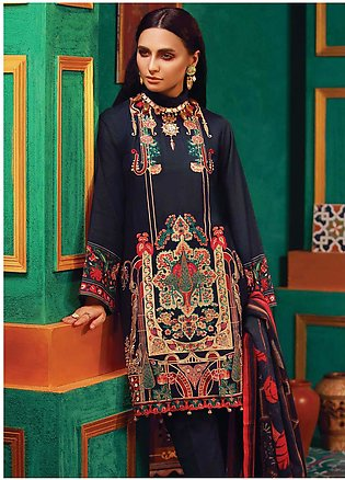 RajBari Embroidered Khaddar Unstitched 3 Piece Suit RB18K 4A - Winter Collection