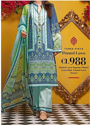 Baraan by Gul Ahmed Printed Lawn Unstitched 3 Piece Suit BGA20MS CL-988 - Summe…