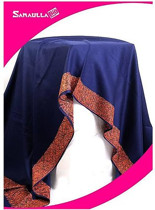 Blue Embroidered Pashmina Shawls for women - SW 218