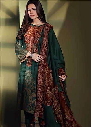 Charizma Embroidered Jacquard Unstitched 3 Piece Suit CRZ19W 02 - Winter Coll...