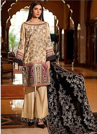 Motifz Embroidered Silk Unstitched 3 Piece Suit MT19PE 2367 Royal Majesty - P...