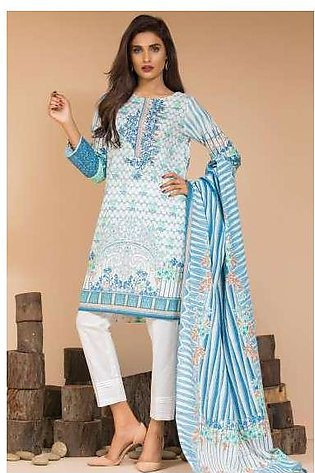 Zeen By Cambridge Embroidered Linen Unstitched 3 Piece Suit ED17W 377016