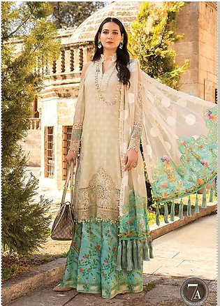 Maria B Embroidered Lawn Suits Unstitched 3 Piece MB21L 7-A - Summer Collection