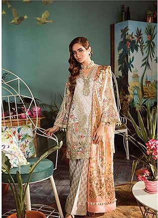 Freesia by Suffuse Embroidered Zari Net Unstitched 3 Piece Suit FRS19ZN 1 GUS...