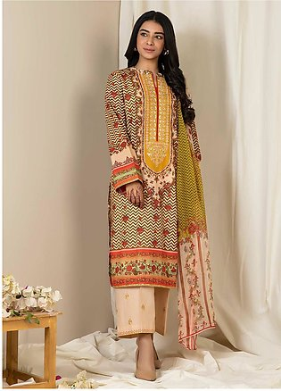 Zellbury Embroidered Lawn Unstitched 3 Piece Suit ZB21L Wusce-794 - Summer Coll…