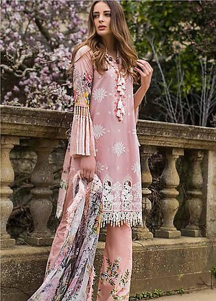 Mina Hasan Embroidered Lawn Unstitched 3 Piece Suit MH19F 8A - Festive Collec...