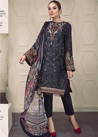 Baroque Embroidered Lawn Unstitched 3 Piece Suit BQ19-S2 01 AVA - Mid Summer ...