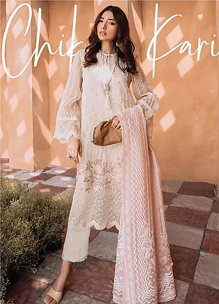 Freesia by Suffuse Embroidered Organza Stitched 3 Piece Suit FRS19O CHIKAN KARI