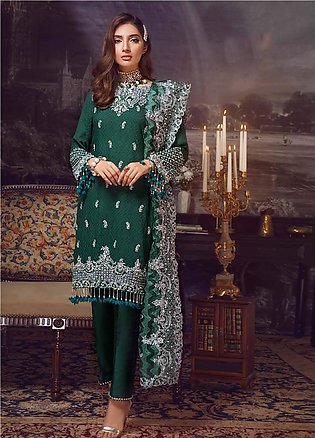 Areej By A-Meenah Embroidered Cotton Unstitched 3 Piece Suit AME19C 03 Sundas...