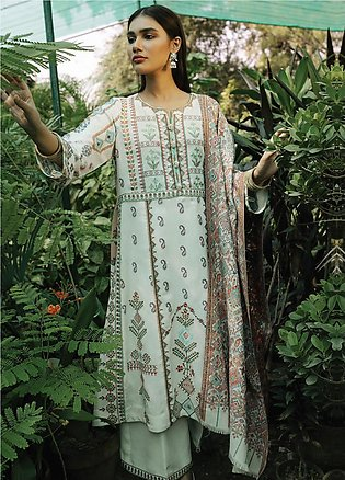 Rehab By Qalamkar Embroidered Jacquard Unstitched 3 Piece Suit QLM19R 07 CROS...
