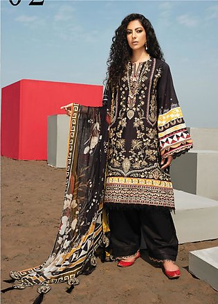 Baroque Embroidered Lawn Suits Unstitched 3 Piece BQ21SL 02 Lantana - Summer Co…