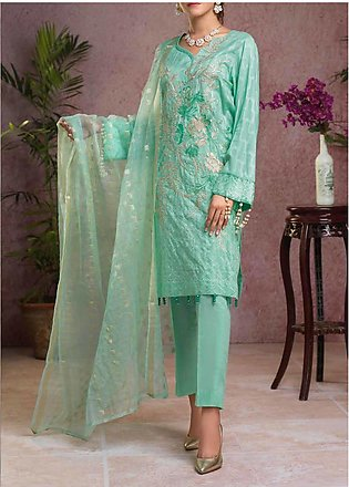 Salitex Embroidered Broschia Unstitched 3 Piece Suit ST19B 365 - Luxury Colle...