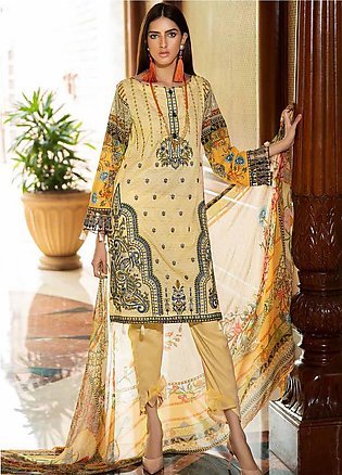Amal by Motifz Embroidered Lawn Unstitched 3 Piece Suit AMT20F 2602 Dust Storm …