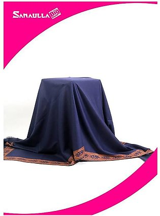 Blue Embroidered Pashmina Shawls for ladies - SW 249