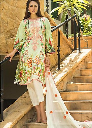 Nadia Hussain Embroidered Lawn Unstitched 3 Piece Suit NH19L 05 - Spring / Su...