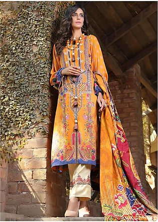AMAL by Motifz Embroidered Linen Unstitched 3 Piece Suit AMT19LK 2402 Gold Cl...
