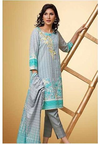 Zeen By Cambridge Embroidered Linen Unstitched 3 Piece Suit ED17W 377001