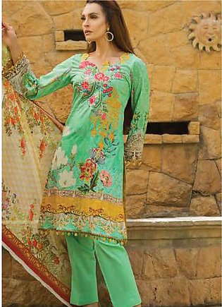 Nadia Hussain Embroidered Lawn Unstitched 3 Piece Suit NH19L 03 - Spring / Su...