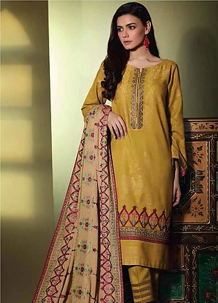 Charizma Embroidered Jacquard Unstitched 3 Piece Suit CRZ19W 10 - Winter Coll...