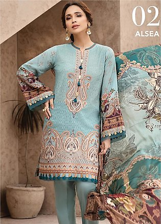 IRIS by Jazmin Embroidered Lawn Unstitched 3 Piece Suit JZ20I 2 - Summer Coll...