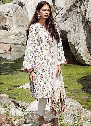 Zara Shahjahan Embroidered Lawn Unstitched 3 Piece Suit ZSM18L 10 - Luxury Co...