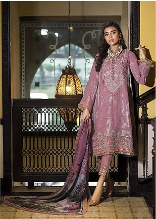 Asim Jofa Embroidered Lawn Unstitched 3 Piece Suit AJ20LL 5B - Luxury Collection
