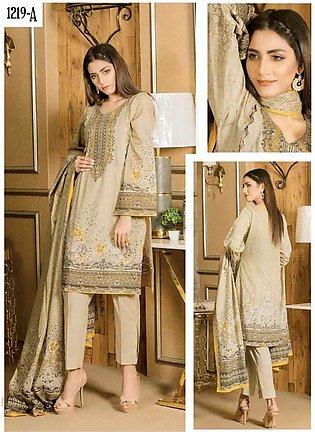 Five Star Printed Lawn Unstitched 3 Piece Suit FS20CL 1219A - Spring / Summer C…