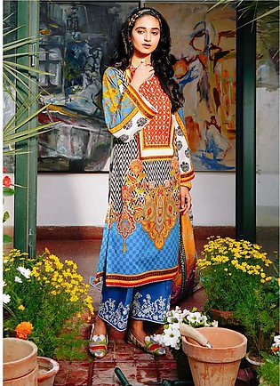 Zellbury Embroidered Lawn Suits Unstitched 3 Piece ZB21L-2 Wusce 869 - Summer C…