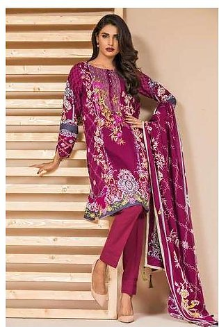 Zeen By Cambridge Embroidered Linen Unstitched 3 Piece Suit ED17W 377007