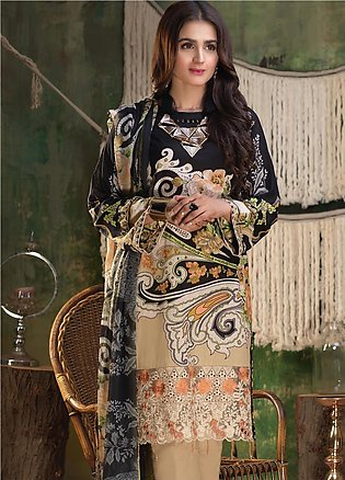 Salitex Embroidered Lawn Unstitched 3 Piece Suit ST19ZL 314A - Summer Collection