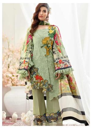 Asifa & Nabeel Embroidered Lawn Unstitched 3 Piece Suit AN19F 9K WISDOM - Festive Collection