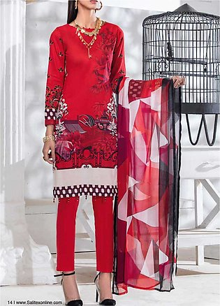 Salitex Embroidered Lawn Unstitched 3 Piece Suit ST20SS 181 B - Summer Collec...