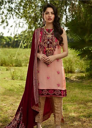 Asifa & Nabeel Embroidered Chiffon Unstitched 3 Piece Suit AN19W 2B JAHAAN - ...