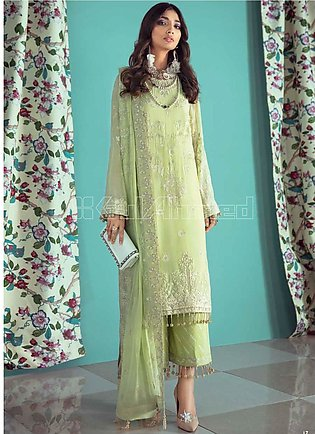 Gul Ahmed Embroidered Chiffon Unstitched 3 Piece Suit GA20PL LE-17 - Spring /...