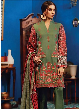 RajBari Embroidered Khaddar Unstitched 3 Piece Suit RB18K 3B - Winter Collection