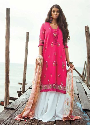 Coco By Zara Shahjahan Embroidered Lawn Unstitched 3 Piece Suit COC18L 10A - ...