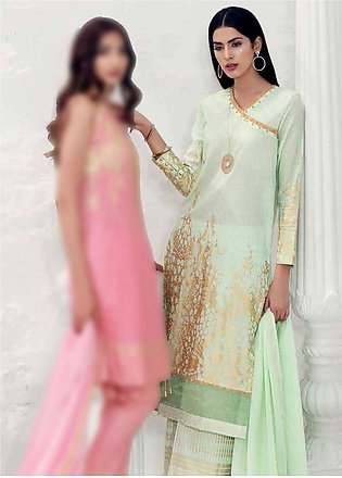 Gul Ahmed Embroidered Lawn Unstitched 3 Piece Suit GA19E FE-189 A - Eid Collect…