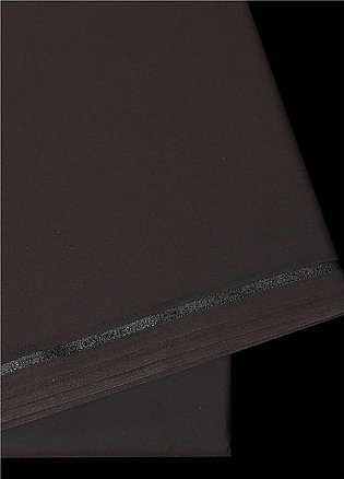 Dynasty Plain Wash N Wear Unstitched Fabric S Q Chocolate - Summer Collection