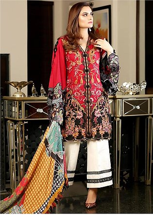 Crimson Embroidered Lawn Unstitched 3 Piece Suit CRM19L 5B - Spring / Summer ...
