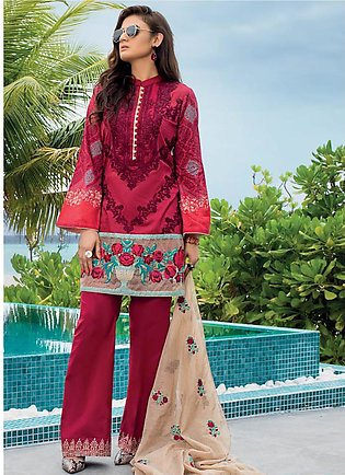Zainab Chottani Embroidered Lawn Unstitched 3 Piece Suit ZC20LL 2B - Luxury C...