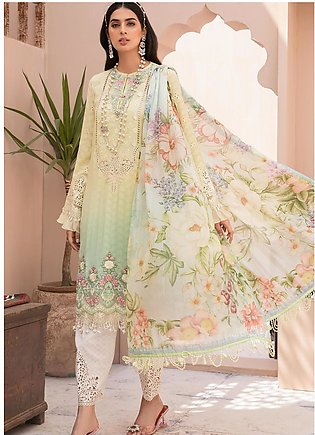 Maria B Embroidered Lawn Suits Unstitched 3 Piece MB21EL D-02 - Festive Collect…