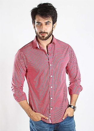 Red Tree Cotton Casual Men Shirts - Red RTM18CS 2958