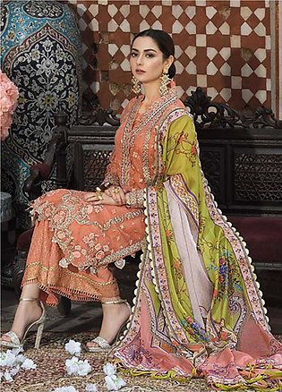 Asim Jofa Embroidered Lawn Unstitched 3 Piece Suit AJ20LL 7A - Luxury Collection