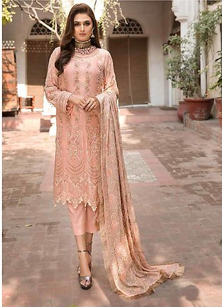 Rang e Bahar by Motifz Embroidered Chiffon Unstitched 3 Piece Suit RB20MT 023...