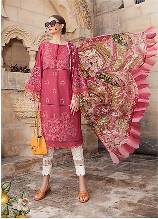Maria B Embroidered Lawn Suits Unstitched 3 Piece MB21L 8-B - Summer Collection