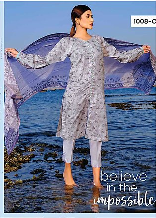 Five Star Printed Lawn Unstitched 3 Piece Suit FS20C 1008C - Spring / Summer ...